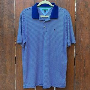 Tommy Hilfiger Golf Blue Stripe Polo Shirt
